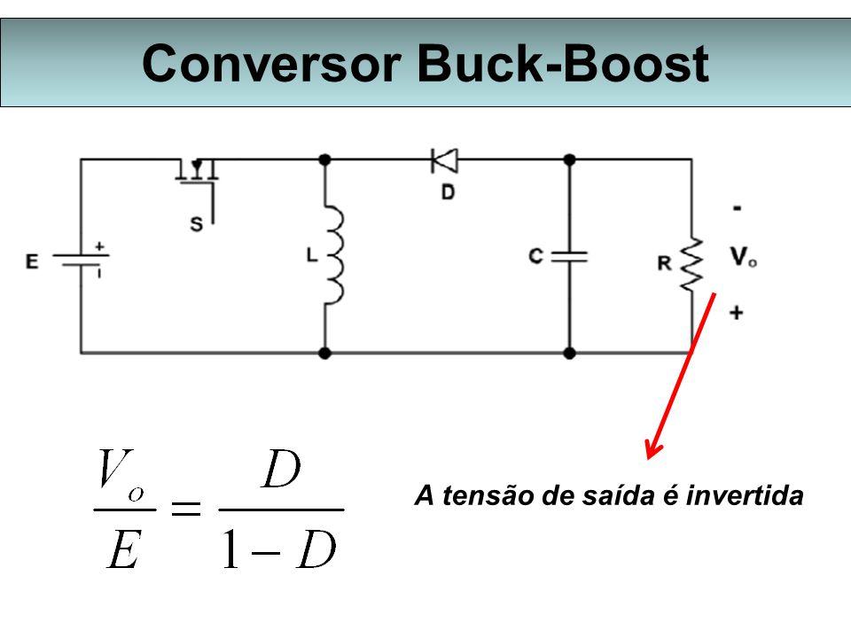 Conversor Buck-Boost A tensão de saída é invertida