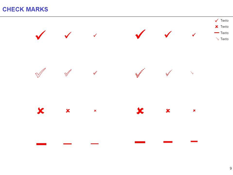 9 CHECK MARKS    – – – Texto