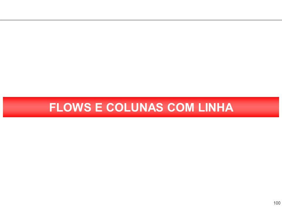 100 FLOWS E COLUNAS COM LINHA