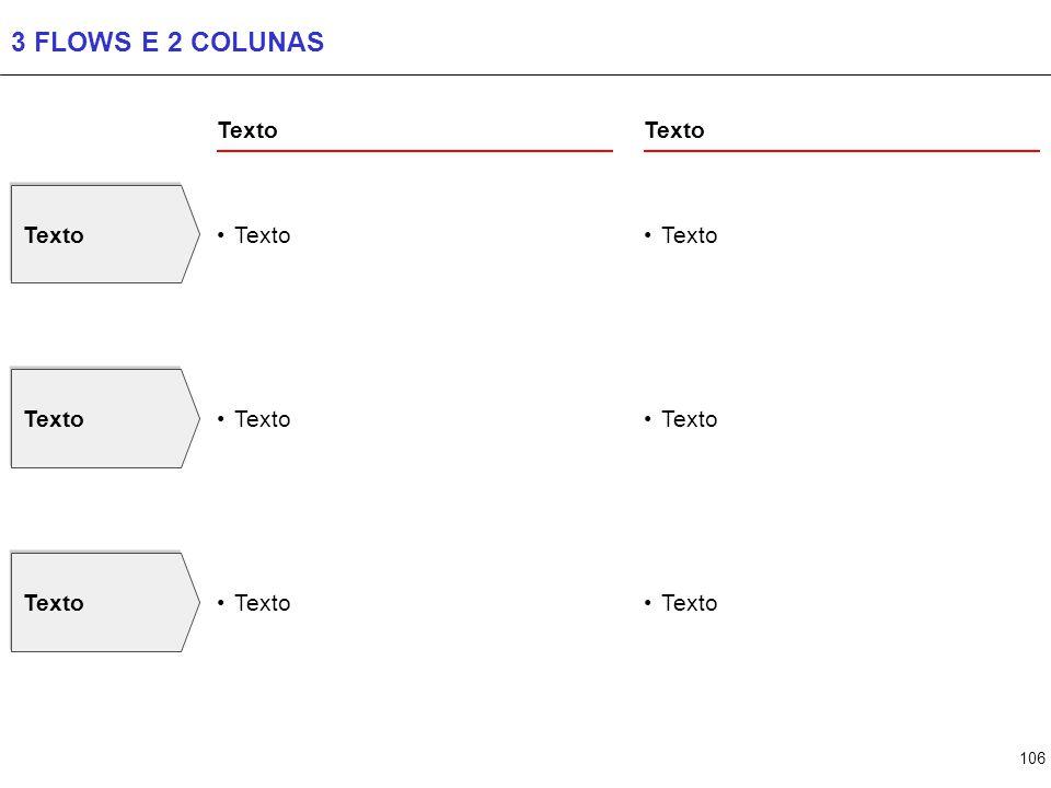 106 3 FLOWS E 2 COLUNAS Texto