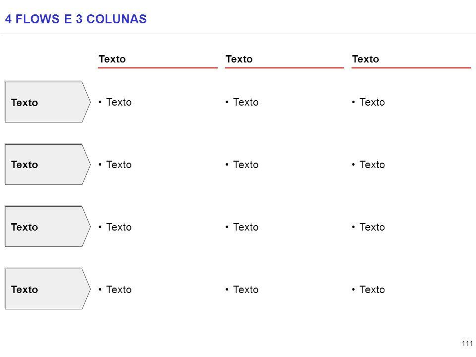 111 4 FLOWS E 3 COLUNAS Texto
