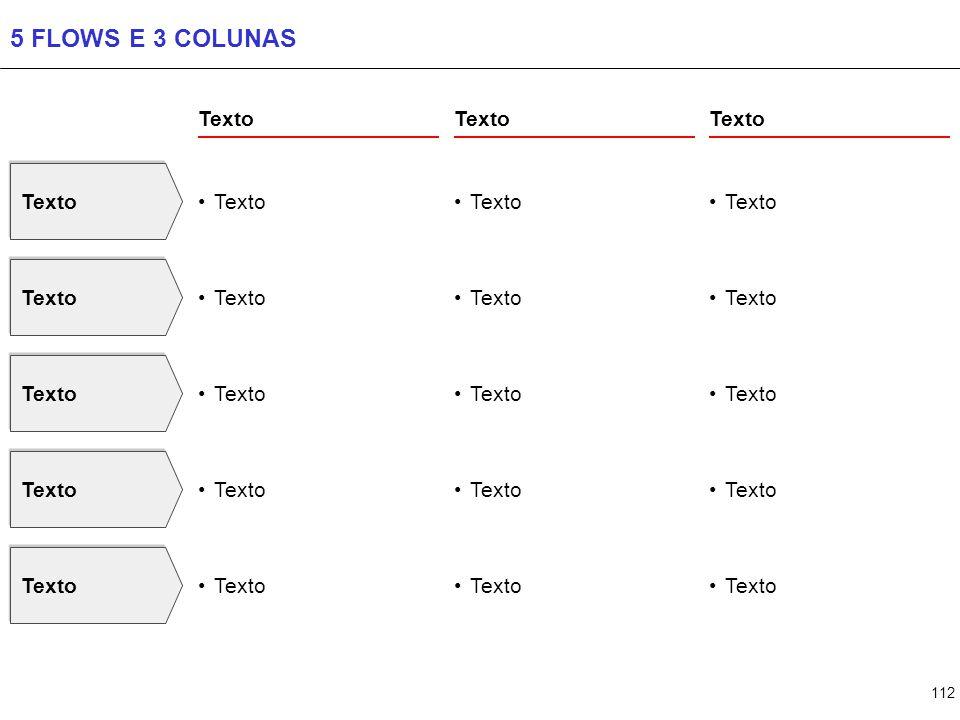 112 5 FLOWS E 3 COLUNAS Texto