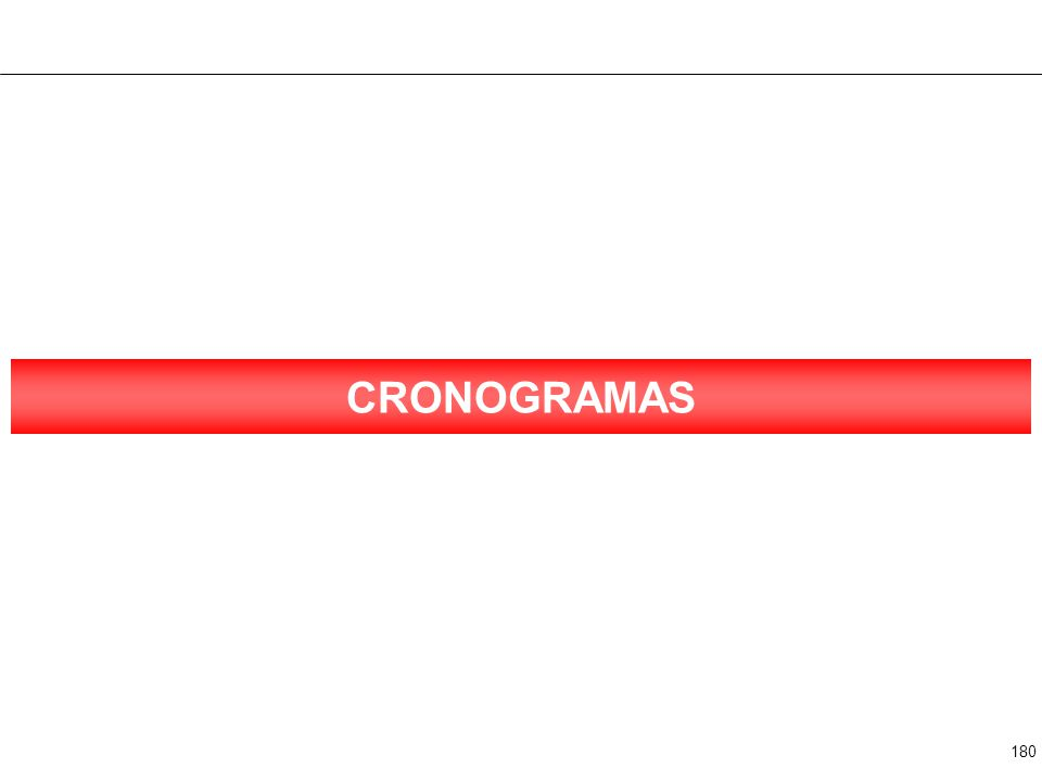 180 CRONOGRAMAS