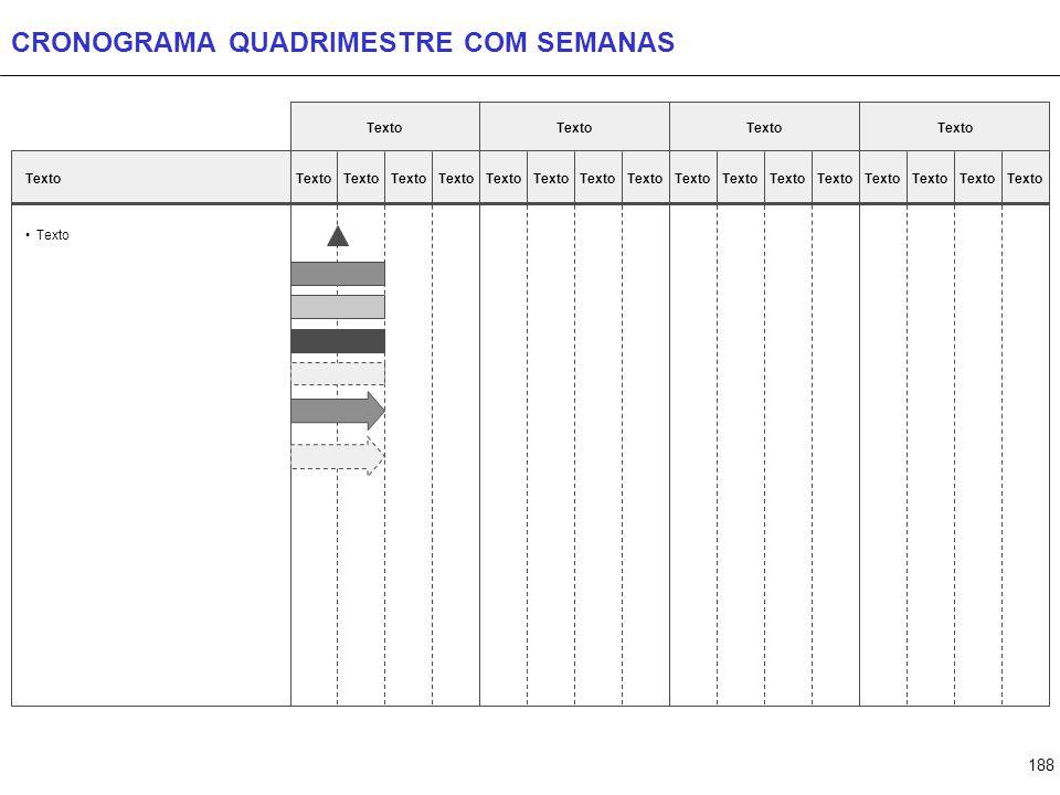 188 CRONOGRAMA QUADRIMESTRE COM SEMANAS Texto