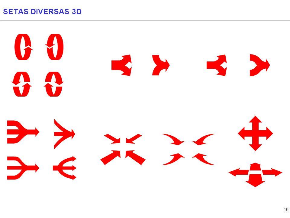 19 SETAS DIVERSAS 3D