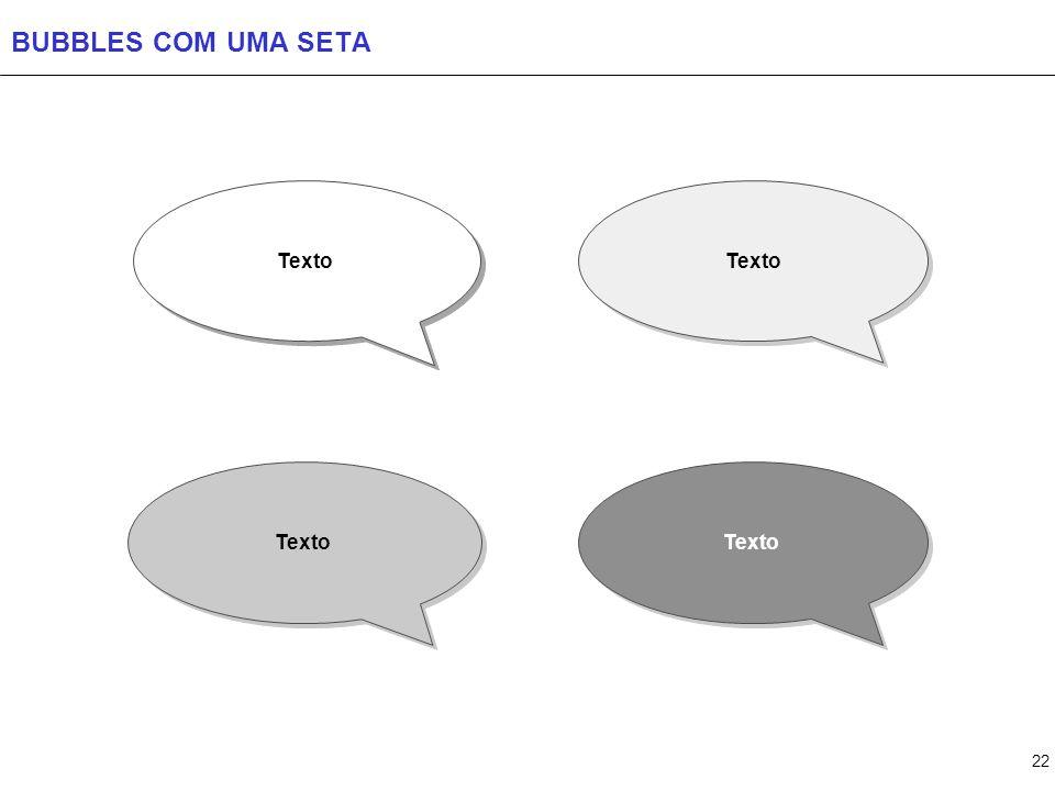 22 BUBBLES COM UMA SETA Texto