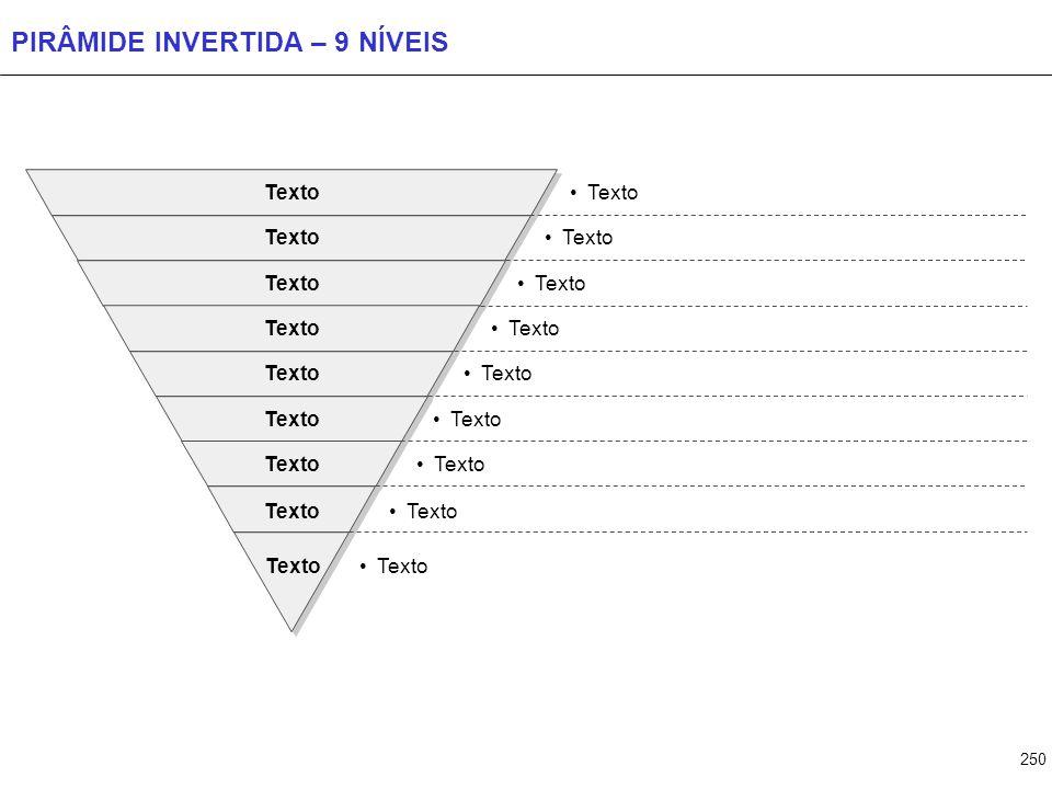250 PIRÂMIDE INVERTIDA – 9 NÍVEIS Texto
