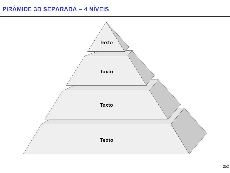 252 PIRÂMIDE 3D SEPARADA – 4 NÍVEIS Texto