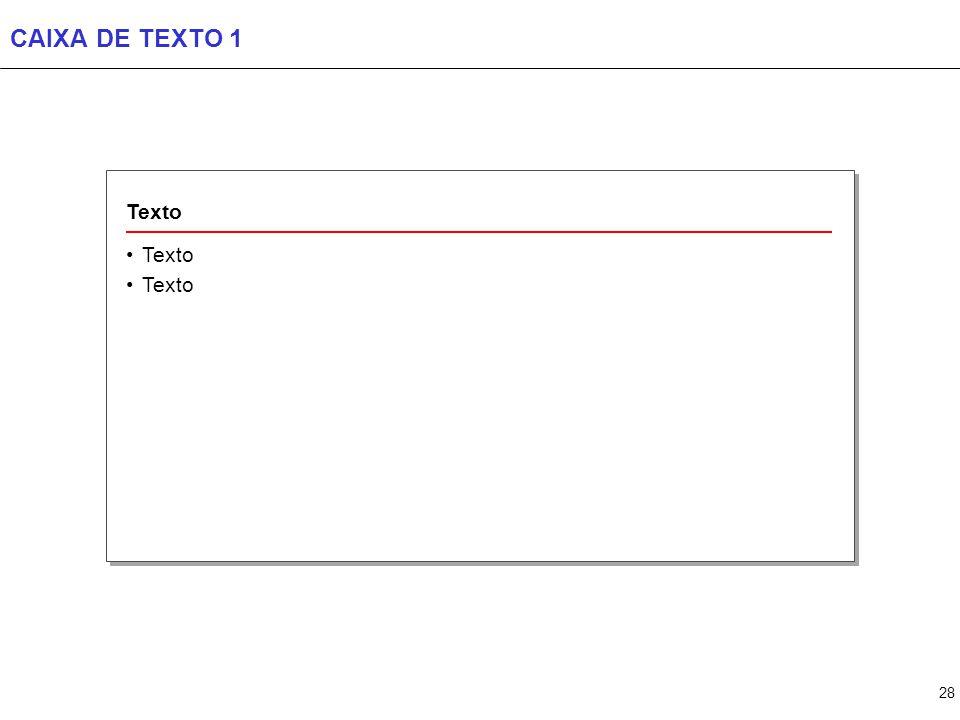 28 CAIXA DE TEXTO 1 Texto