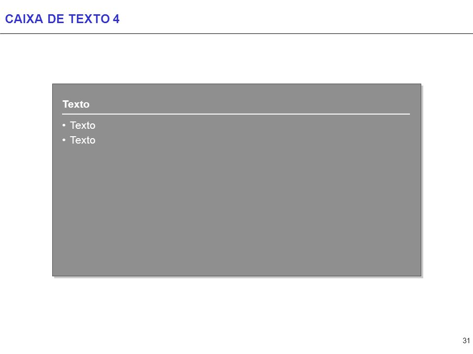 31 CAIXA DE TEXTO 4 Texto