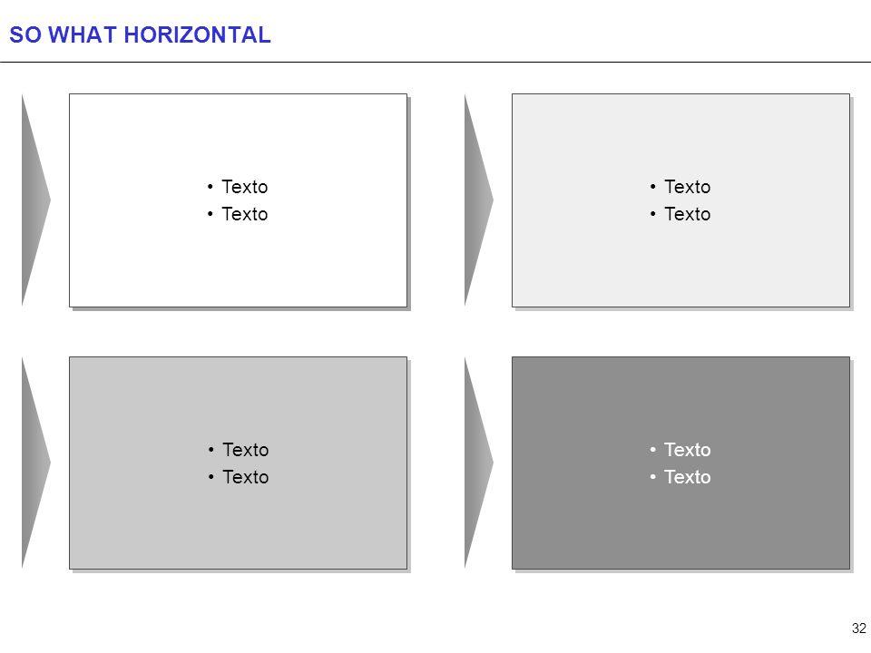 32 SO WHAT HORIZONTAL Texto