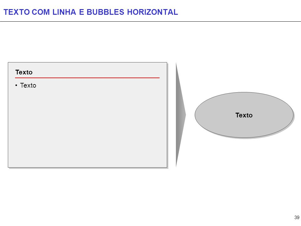 39 TEXTO COM LINHA E BUBBLES HORIZONTAL Texto