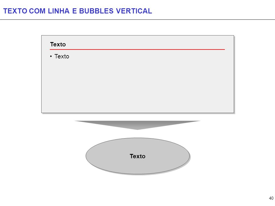 40 TEXTO COM LINHA E BUBBLES VERTICAL Texto