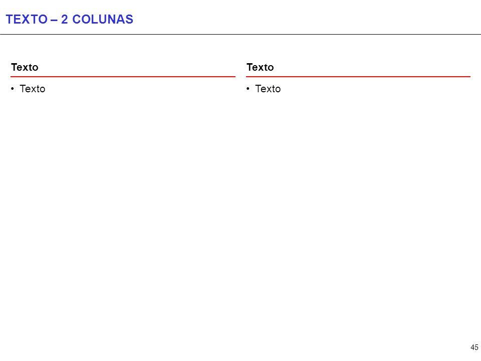 45 TEXTO – 2 COLUNAS Texto