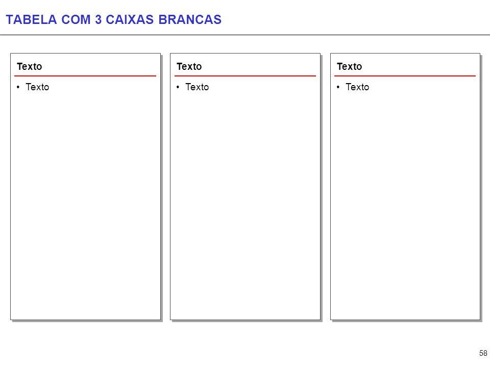 58 TABELA COM 3 CAIXAS BRANCAS Texto