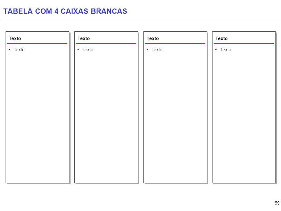 59 TABELA COM 4 CAIXAS BRANCAS Texto