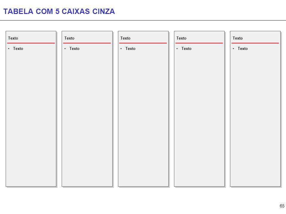 65 TABELA COM 5 CAIXAS CINZA Texto