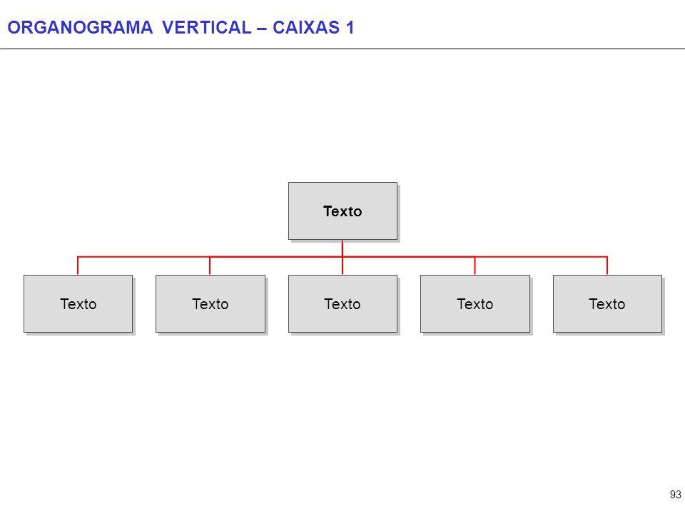 93 ORGANOGRAMA VERTICAL – CAIXAS 1 Texto