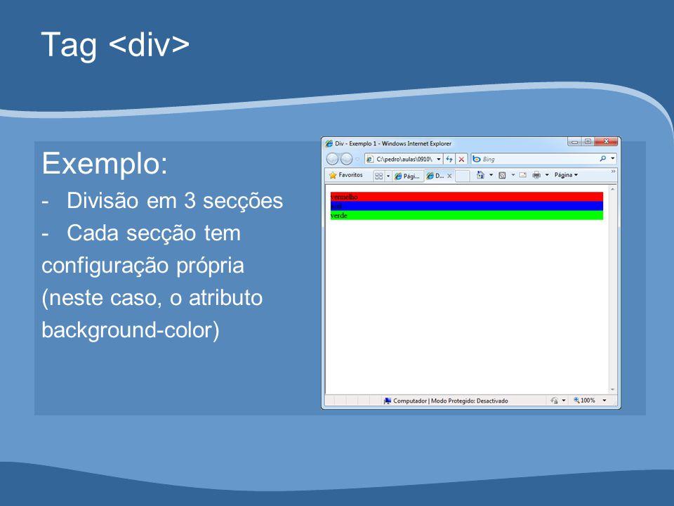 Tag Sidebar e content: #sidebar { background-color: #ffffff; float: left; width: 200px; border: dashed 2px blue; } #content { background-color: #cccccc; margin-left: 250px; }