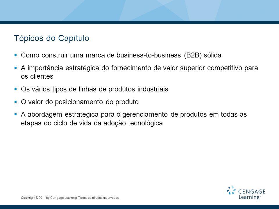 Copyright © 2011 by Cengage Learning. Todos os direitos reservados. Tópicos do Capítulo  Como construir uma marca de business-to-business (B2B) sólid