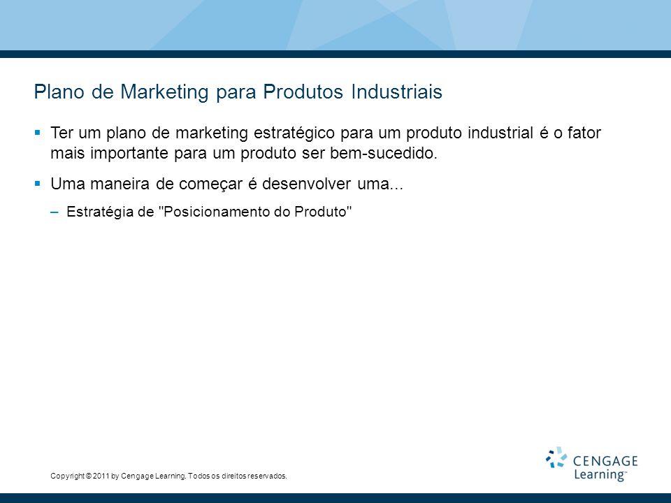 Copyright © 2011 by Cengage Learning. Todos os direitos reservados. Plano de Marketing para Produtos Industriais  Ter um plano de marketing estratégi