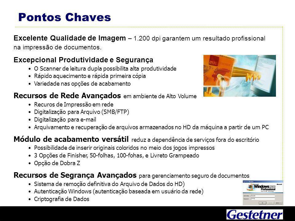 Pontos Chaves Excelente Qualidade de Imagem – 1.200 dpi garantem um resultado profissional na impressão de documentos.