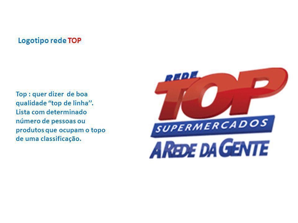"""Logotipo rede TOP Top : quer dizer de boa qualidade """"top de linha''. Lista com determinado número de pessoas ou produtos que ocupam o topo de uma clas"""