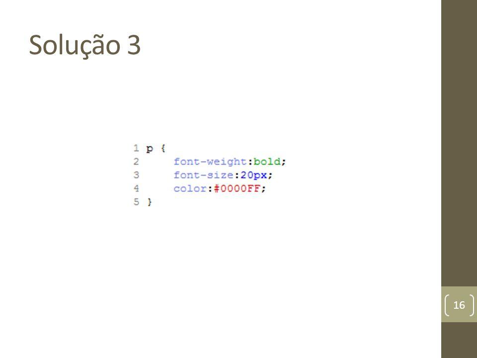 Solução 3 16