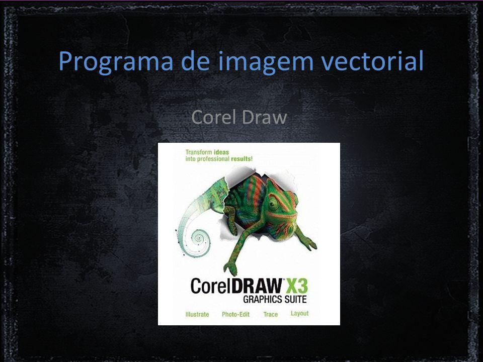 Programa de imagem vectorial Corel Draw