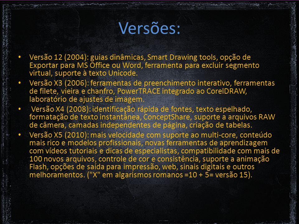 Versões: Versão 12 (2004): guias dinâmicas, Smart Drawing tools, opção de Exportar para MS Office ou Word, ferramenta para excluir segmento virtual, suporte à texto Unicode.