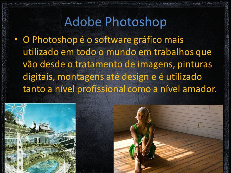 O Photoshop é o software gráfico mais utilizado em todo o mundo em trabalhos que vão desde o tratamento de imagens, pinturas digitais, montagens até design e é utilizado tanto a nível profissional como a nível amador.