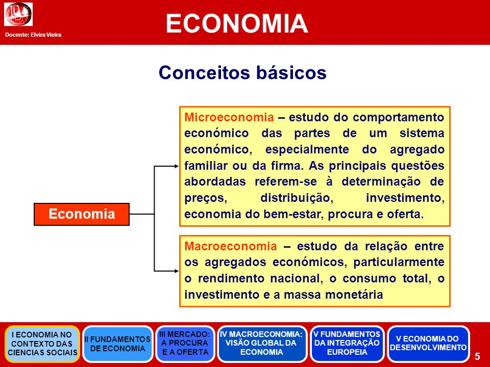 Docente: Elvira Vieira ECONOMIA 46 Economia do Desenvolvimento Aumento regular da produção de bens e serviços numa determinada sociedade referenciada no espaço e no tempo.