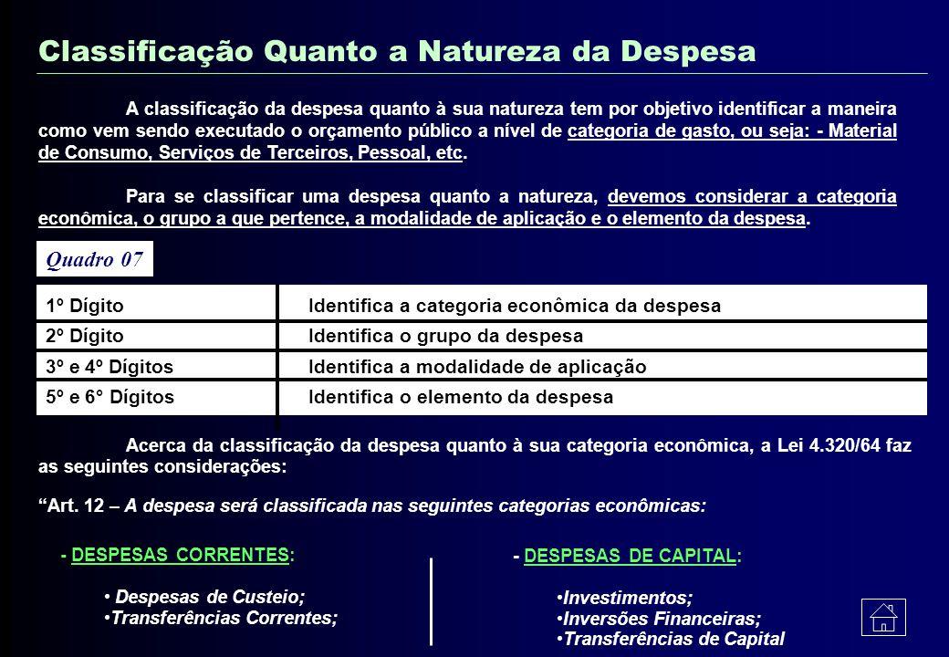 02 Descrição Classificação Código Exemplificando: 007 0021 4900 FUNÇÃO JUDICIÁRIA PROGRAMA ADMINISTRAÇÃO SUBPROGRAMA ADM. GERAL ATIVIDADE COORDEN. MAN