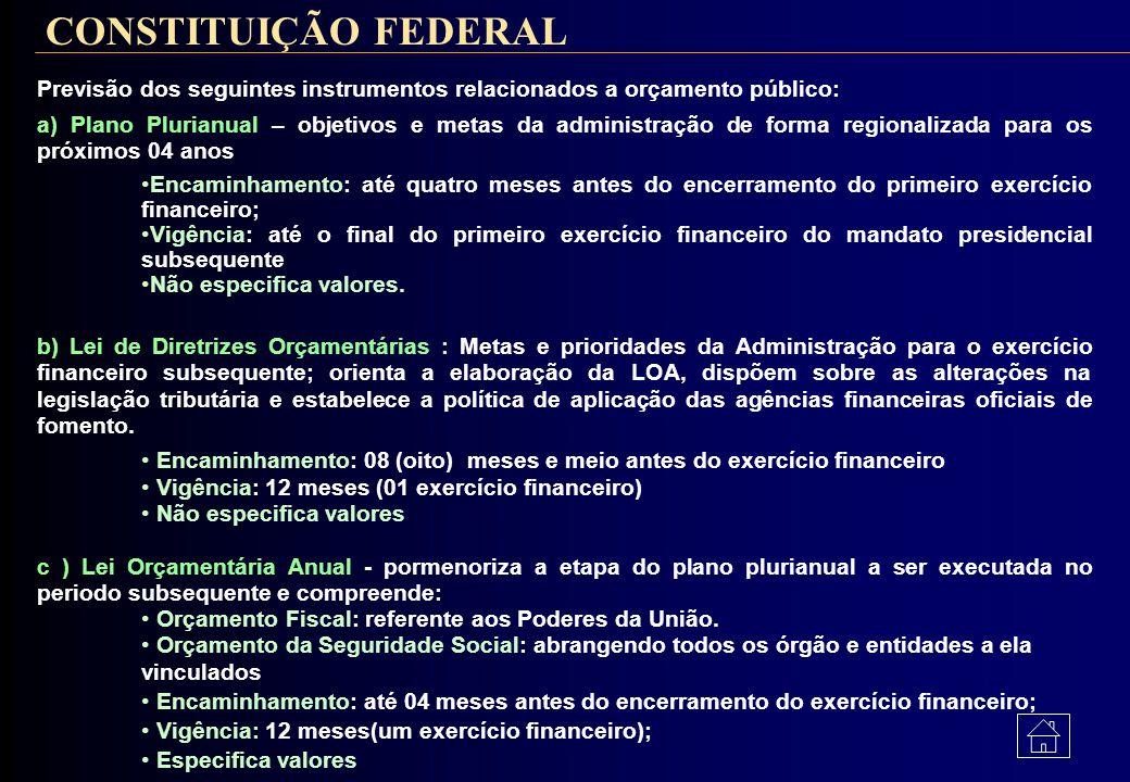 Normas Gerais de Direito Financeiro para elaboração e controle dos Orçamentos e Balanços da União, dos Estados dos Municípios de do Distrito Federal)