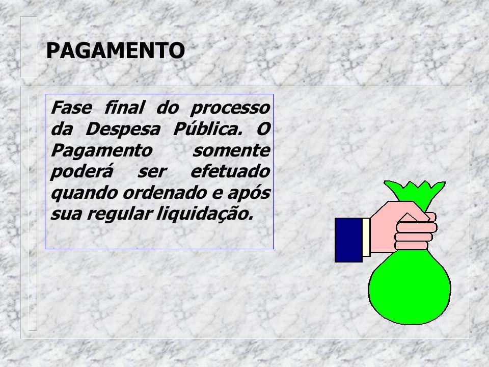 LIQUIDAÇÃO É o estágio que consiste na verificação do direito adquirido pelo credor, tendo por base os títulos e documentos comprobatórios do respecti