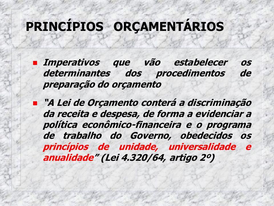 O Orçamento u É o principal instrumento legal de planejamento, coordenação e controle das ações da Administração Governamental por meio do qual são tr