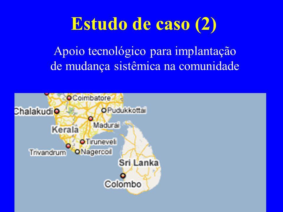 Estudo de caso (2) Apoio tecnológico para implantação de mudança sistêmica na comunidade