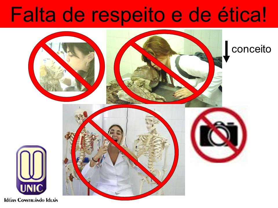 Falta de respeito e de ética! conceito