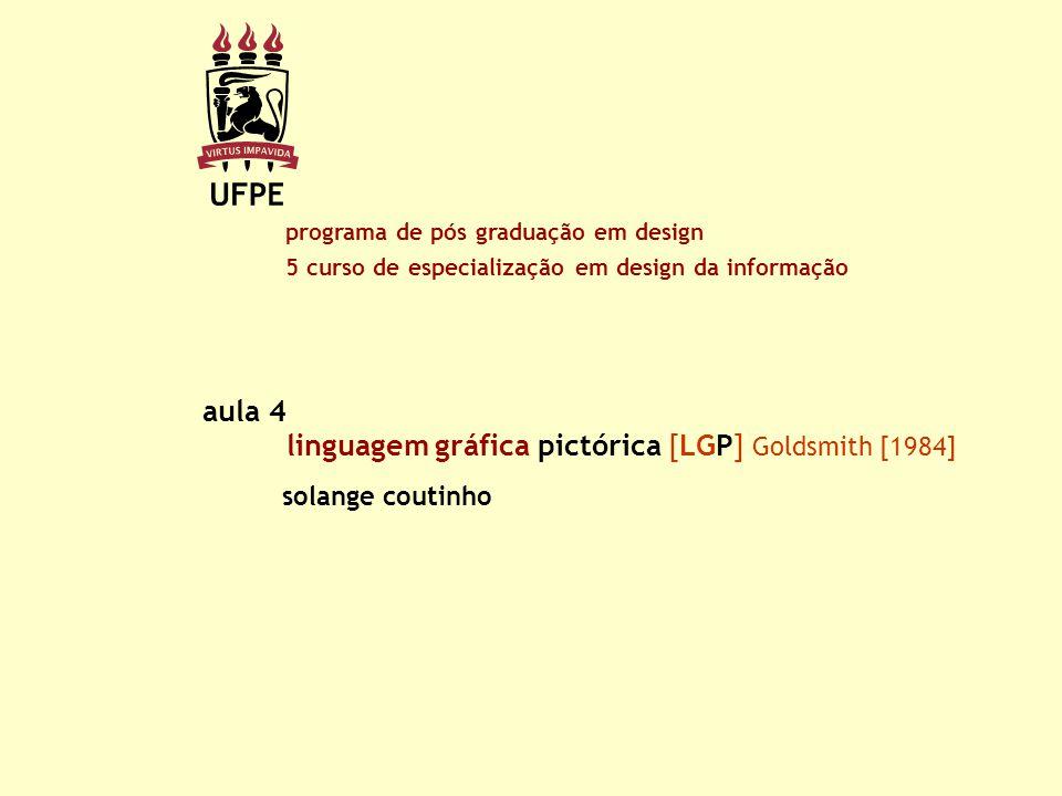 linguagem gráfica pictórica [LGP] Goldsmith [1984] aula 4 programa de pós graduação em design 5 curso de especialização em design da informação solang