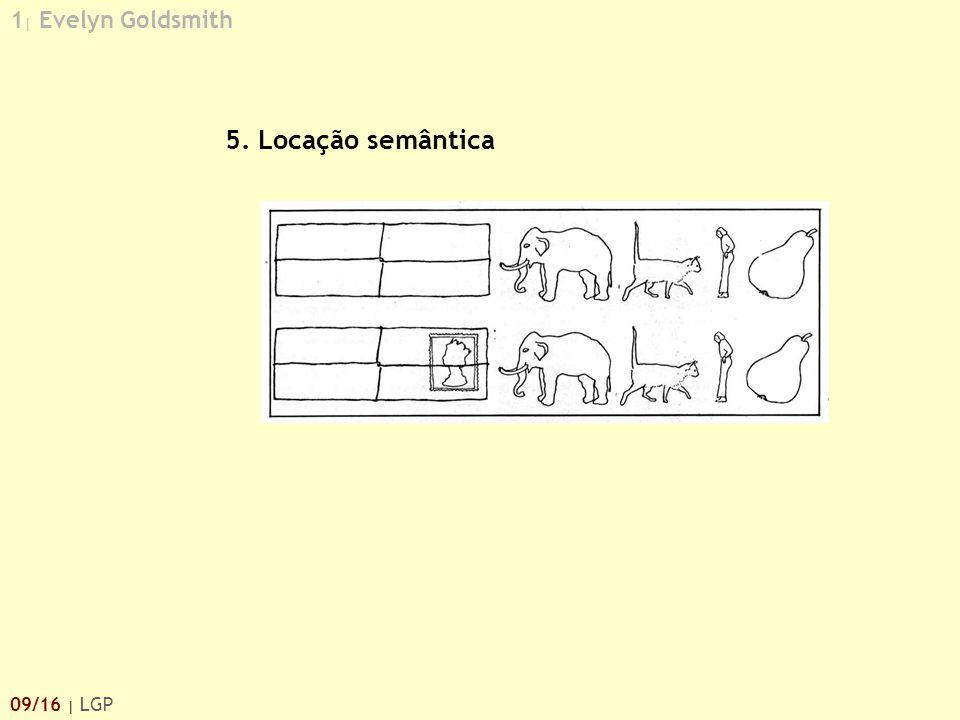 1 | Evelyn Goldsmith 09/16 | LGP 5. Locação semântica