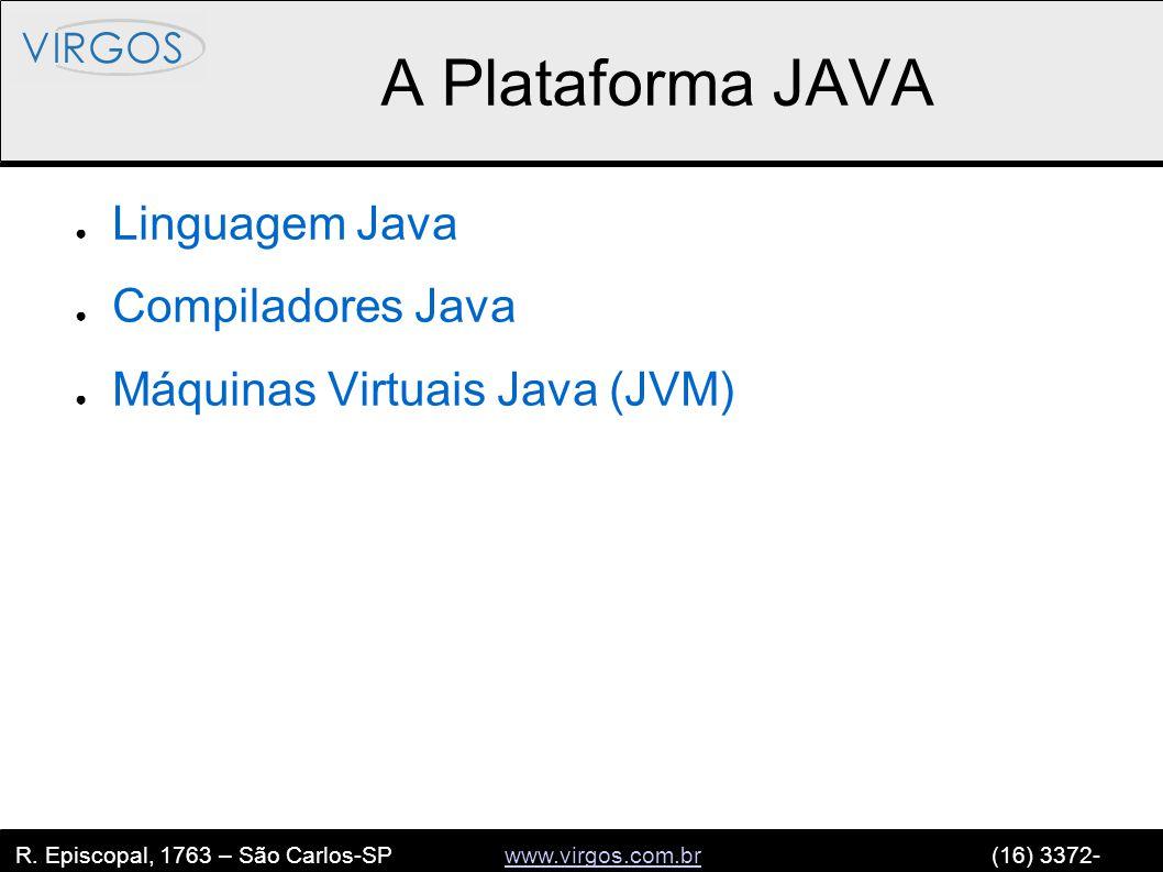 R. Episcopal, 1763 – São Carlos-SP www.virgos.com.br (16) 3372- 2120www.virgos.com.br A Plataforma JAVA ● Linguagem Java ● Compiladores Java ● Máquina