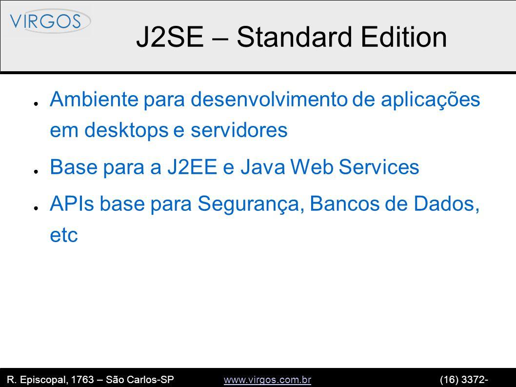 R. Episcopal, 1763 – São Carlos-SP www.virgos.com.br (16) 3372- 2120www.virgos.com.br J2SE – Standard Edition ● Ambiente para desenvolvimento de aplic