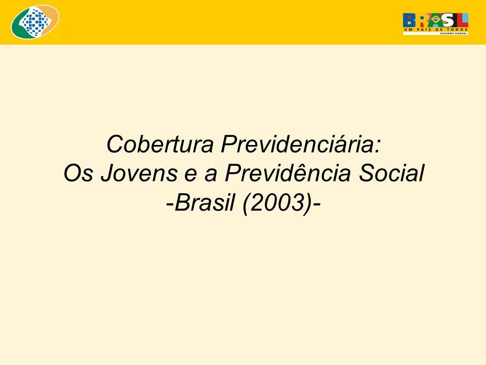 Cobertura Previdenciária: Os Jovens e a Previdência Social -Brasil (2003)-