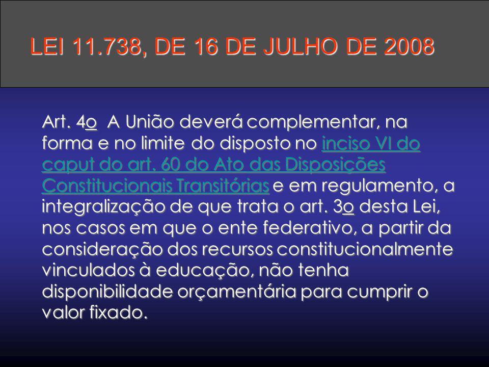 Art. 4o A União deverá complementar, na forma e no limite do disposto no inciso VI do caput do art. 60 do Ato das Disposições Constitucionais Transitó