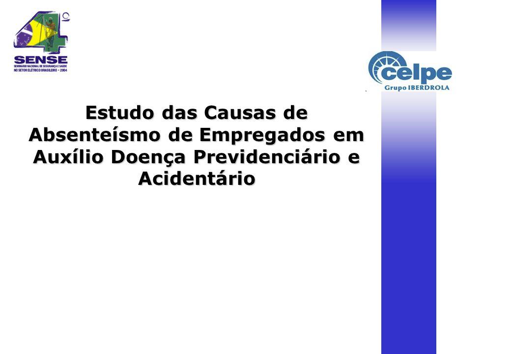 Estudo das Causas de Absenteísmo de Empregados em Auxílio Doença Previdenciário e Acidentário