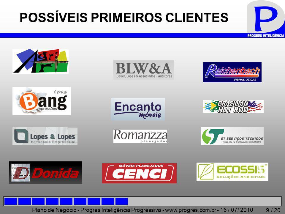 Plano de Negócio - Progres Inteligência Progressiva - www.progres.com.br - 16 / 07/ 2010 / 20 20 Obrigado!!.