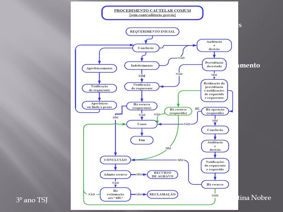 PROCEDIMENTOS CAUTELARES 3º ano TSJ Albertina Nobre 2.2.2 Notificação do requerido após o decretamento da providência 2.2.2.1 Oposição (na sequência d