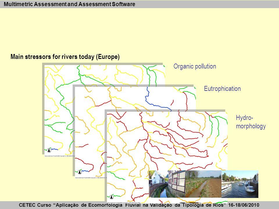 """CETEC Curso """"Aplicação de Ecomorfologia Fluvial na Validação da Tipologia de Rios"""" 16-18/06/2010 Multimetric Assessment and Assessment Software Main s"""
