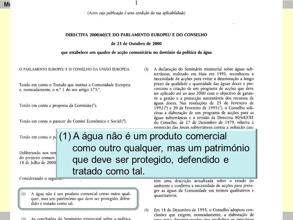 """CETEC Curso """"Aplicação de Ecomorfologia Fluvial na Validação da Tipologia de Rios"""" 16-18/06/2010 Multimetric Assessment and Assessment Software (1) A"""