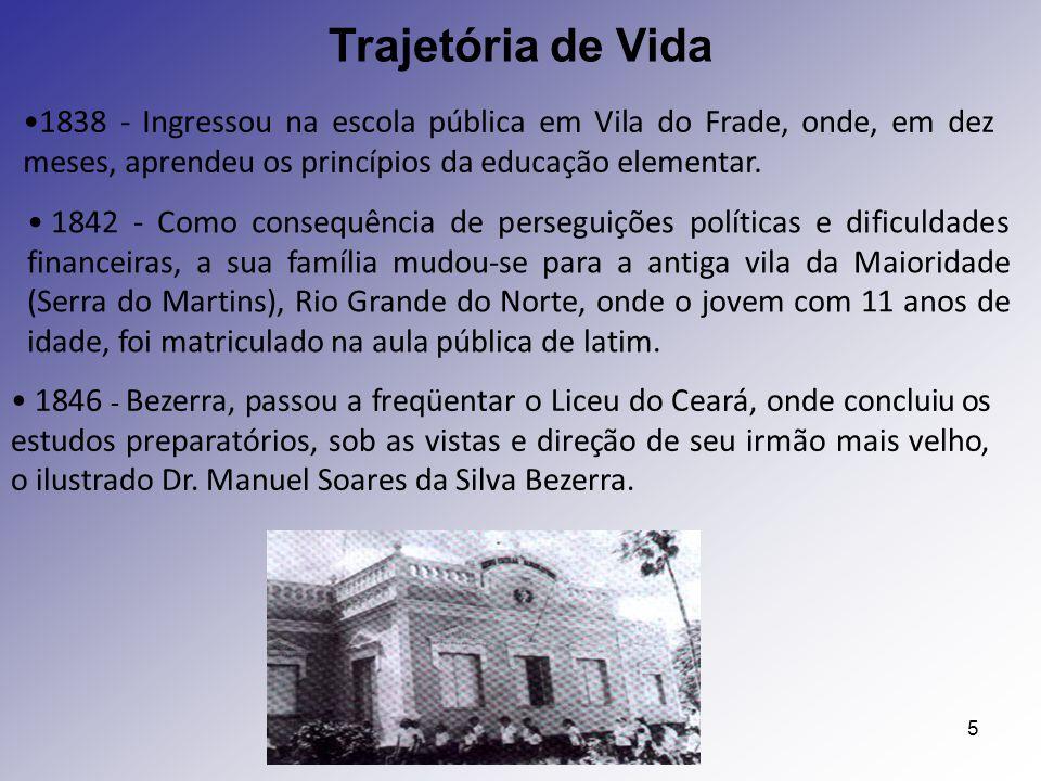 5 1838 - Ingressou na escola pública em Vila do Frade, onde, em dez meses, aprendeu os princípios da educação elementar. 1842 - Como consequência de p